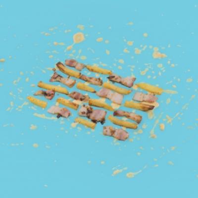 Картошка с беконом и сырным дипом