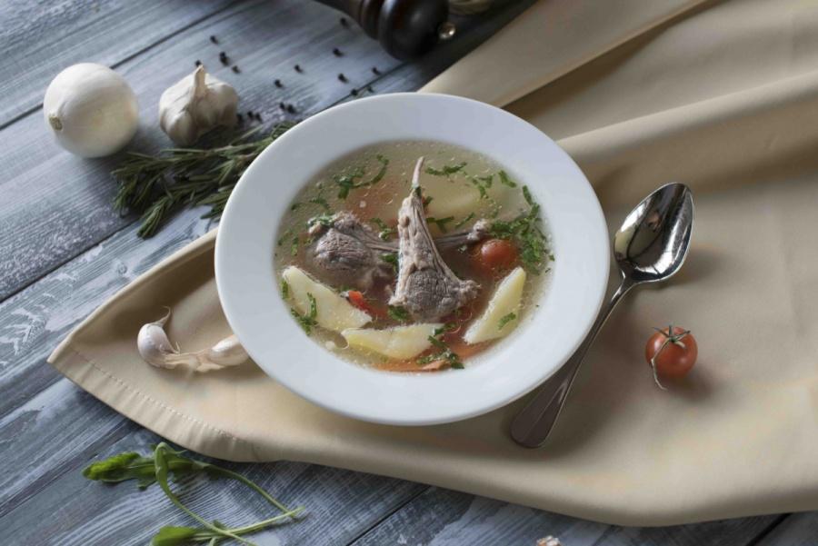Суп с бараньими ребрами