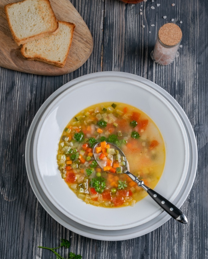 Овощной суп Министроне