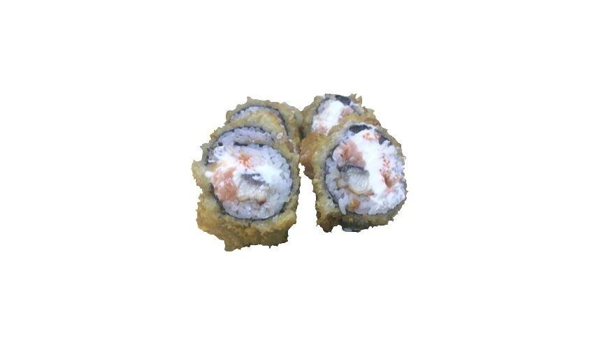 Горячий ролл с лососем и угрем