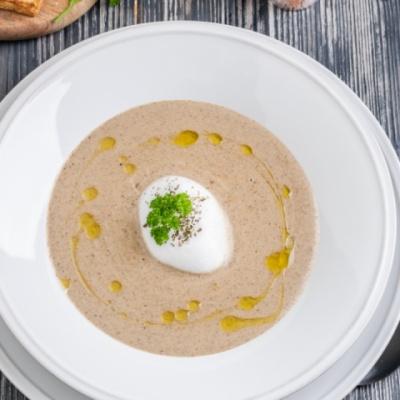 Крем - суп из белых грибов