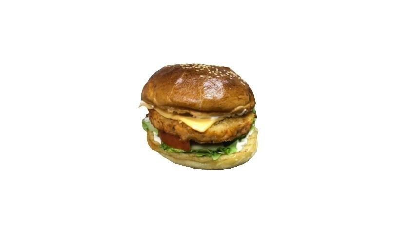 Бургер с семгой