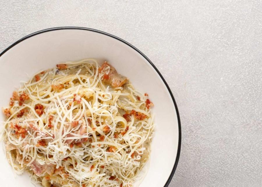 Спагетти с трюфельным кремом