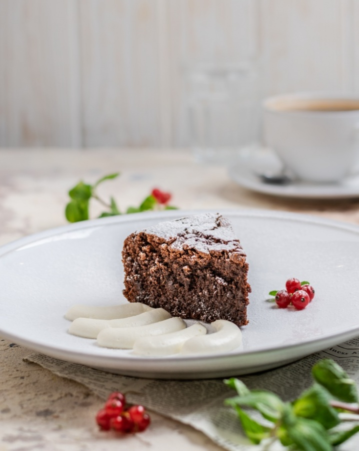 Шоколадный торт Капрезе