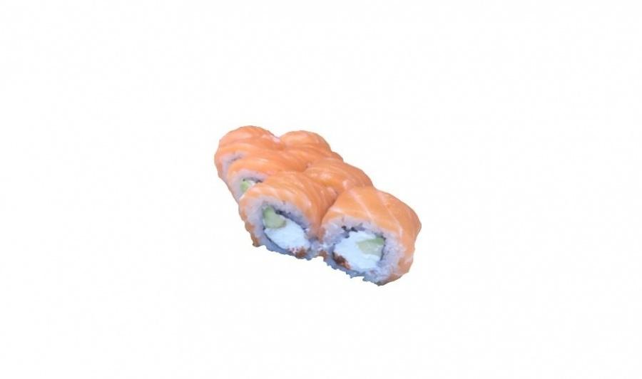 Ролл с лососем и сливочным сыром