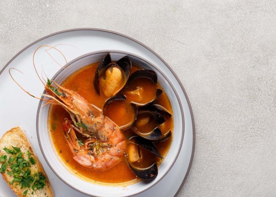 Суп Качукко с морепродуктами